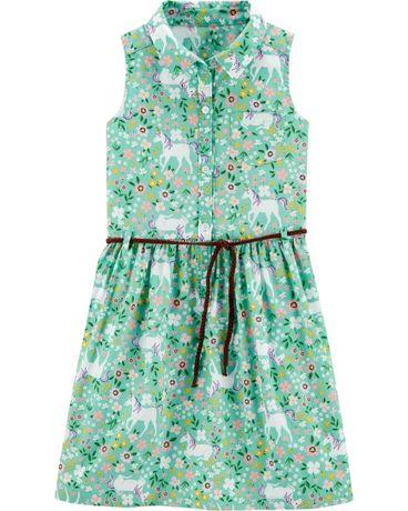 Платье картерс Carters из поплина с единорогами