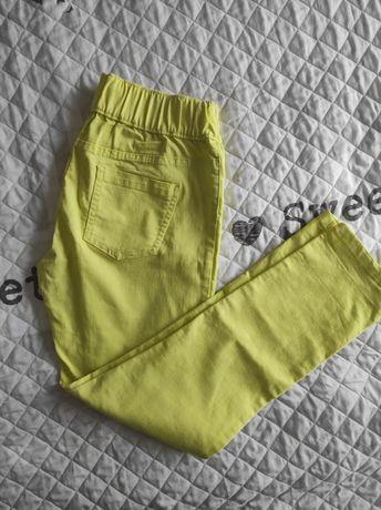 Spodnie elastyczne limonkowe esmera