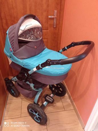 Wózek dziecięcy  3w1 turkusowy
