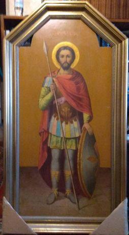 Икона «Святой мученик Виктор», 19в.,142х70см.