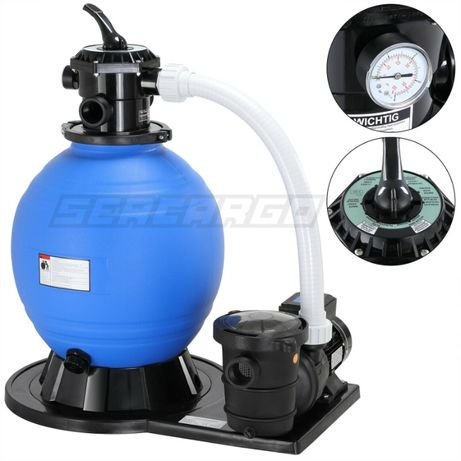 Bomba Piscina com Filtro de areia c/ pré-filtro 15900L/h