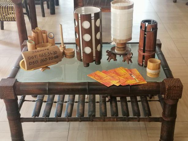 Светильники из бамбука под заказ