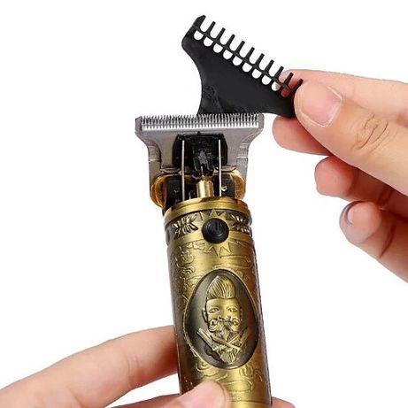 Машинка для стрижки волос бороды аккумуляторная от USB триммер бритва