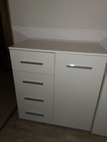Biała komoda / szafka (4 szuflady)