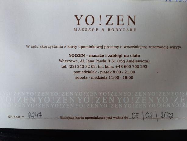 Voucher masaż Yo!Zen al. Jana Pawła