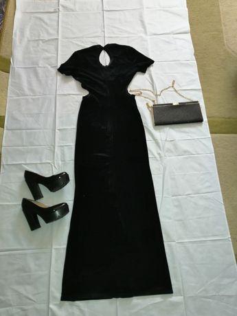 вечерние велюровое платье