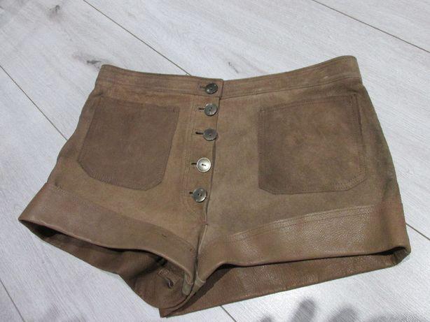 Spodenki damskie skórzane w stylu bawarskim