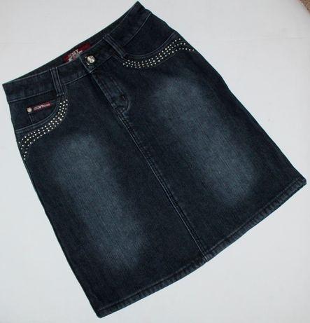 Джинсовая юбка юбочка юпка на флисе теплая