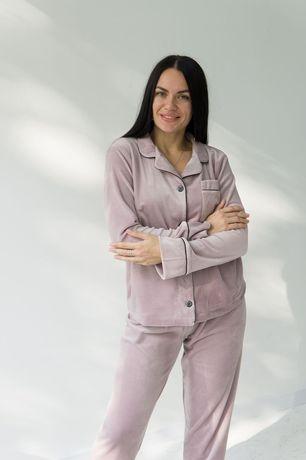 Тёплая пижама Плюшевая пижама Рубашка штаны костюм для дома