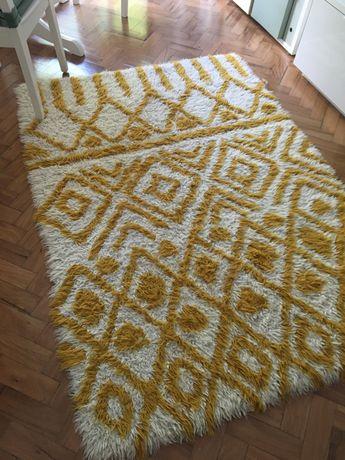 Tapete de lã, pele comprido 130x180 cm