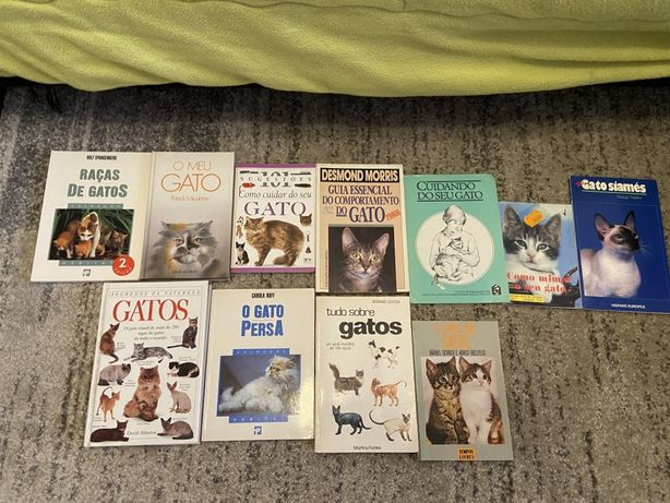 Conjunto de livros sobre Gatos