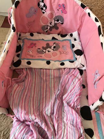 Набір в дитяче ліжко комплект в кроватку
