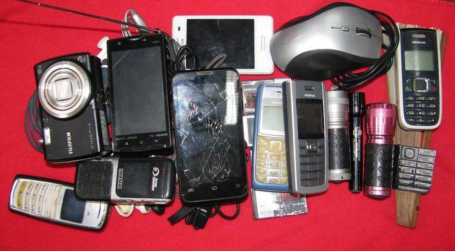 Куча телефонов GSM, CDMA, наушники, фотоаппарат одним лотом