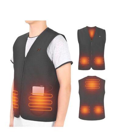 Colete termico veste casaco inverno powerbank eletrico aquecimento