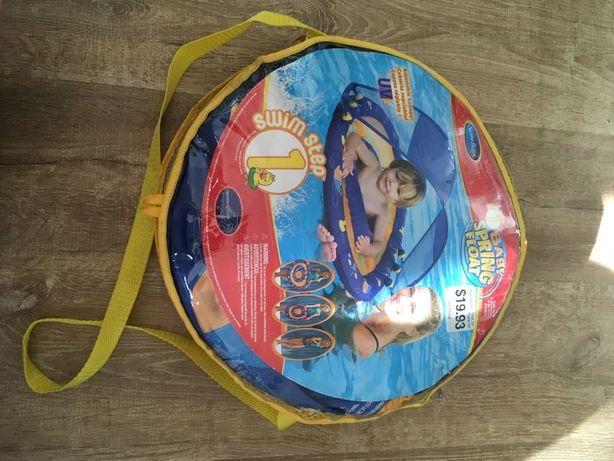 Koło kąpielowe do pływania z osłonką przeciwsłoneczną torba basen