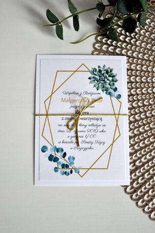 Zaproszenie Ślub 2021 Geometryczny wzór