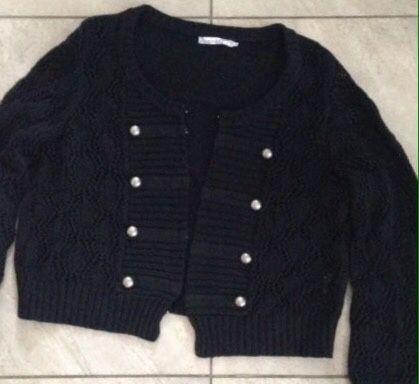 Sweter ażurowy czarny XL zara