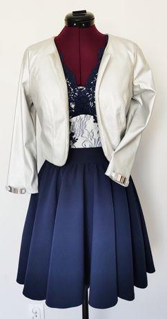 Komplet Sukienka bolerko 36 S żakiet marynarka