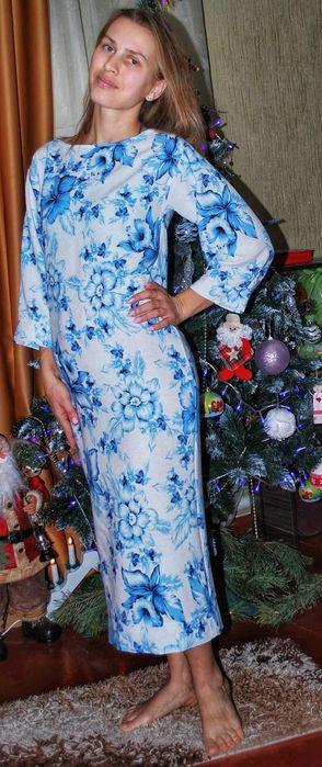 Льняное летнее платье Веремеевка - изображение 1