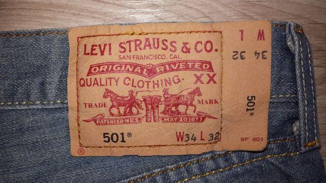 Spodnie Levis 501 W34 L32 pas 84