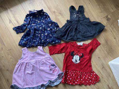 Sukienki dla dIewczynki H&M i inne 62 68