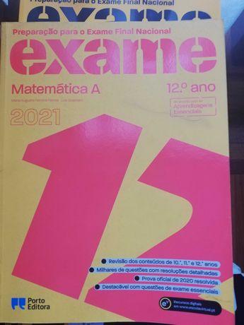 Livro de Preparação para o exame nacional de Matemática 12º Ano - 2021