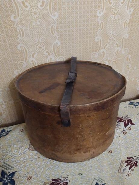 Коробка шляпная ЛЮТЕРМА старинная