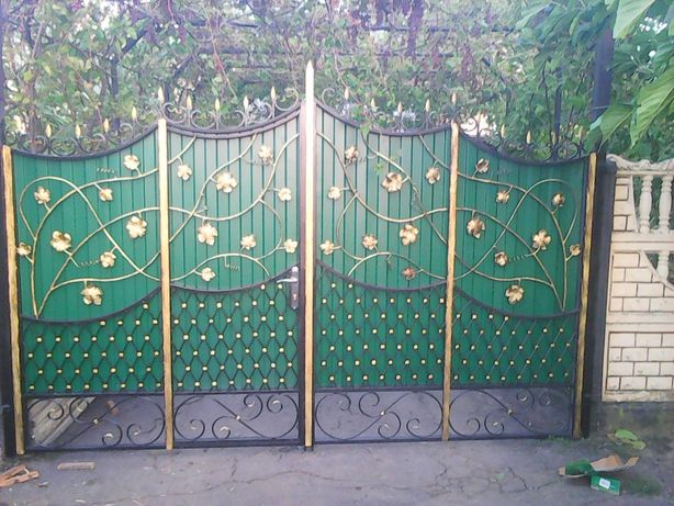 ворота металлические, двери квартирные, калитка, решетки