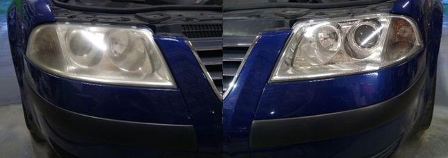 Polerowanie/renowacja lamp samochodowych Reblino