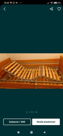 Łóżko rehabilitacyjne z mstracem