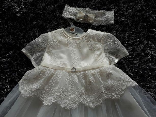 Zestaw sukienka do chrztu