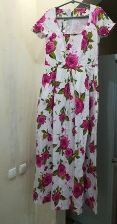 Платье в пол, платья из натуральной ткани, выпускное платье