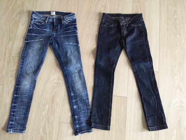 Dwie pary spodni r. 140 dla szczupłej dziewczynki