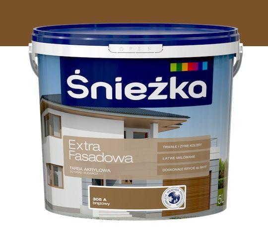 farba fasadowa zewnętrzna śnieżka Extra 10L nowa odlane 2 l