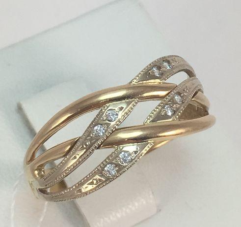 Каблучка кольцо золото 585 проба код 8156 л