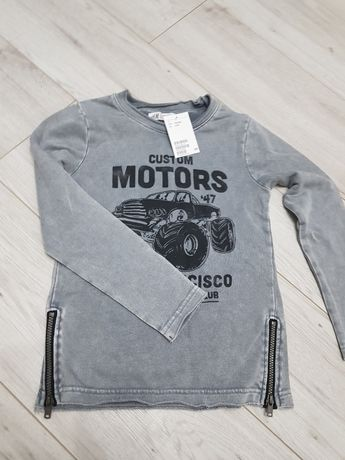 Szara bluza h&M 122 128