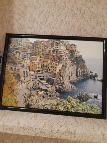 Продам картину с видом Италии.