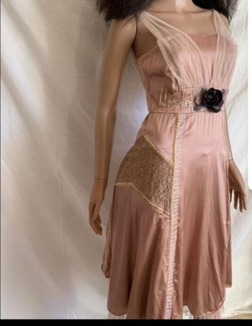 Шикарное шёлковое вечернее платье Karen Millen