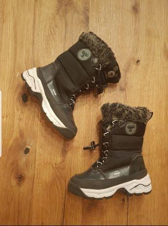 Hummel kozaki śniegowce buty na zimę jak nowe 26 czarne z futerkiem