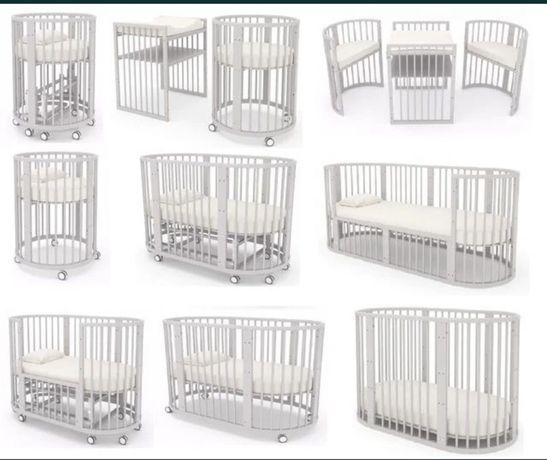 Дитяче ліжечко ,Mioobaby Aura 9 в 1