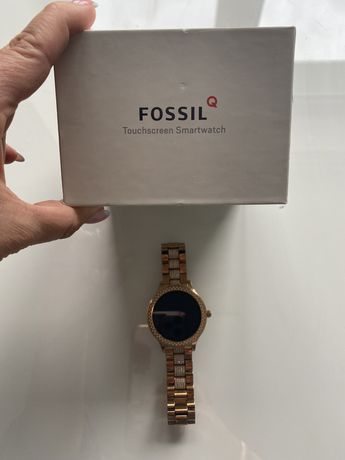 Fossil smartwatch piekny cyrkonie