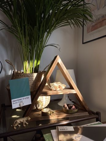 Półka trójkątna drewniana półka loft półk boho