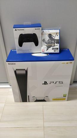 PlayStation 5, nowe, wersja z napędem, drugi pad, Ghost of Tsuchima