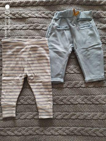 Spodnie/ legginsy dla dziewczynki rozmiar 62