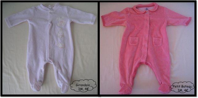Bodys e Babygrows menina (0-6M)