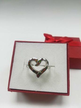 Srebrny pierścionek serce srebro 925