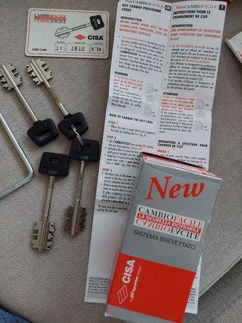Kit 4 chaves Cisa para porta blindada