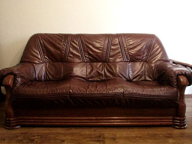 Sprzedam skórzaną trzyosobową kanapę kanapa skórzana