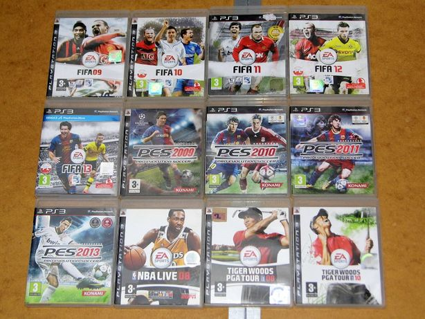 Oryginalne gry na PS3 Fifa Golf Tiger Woods PES 09-2013 NBA Live 08