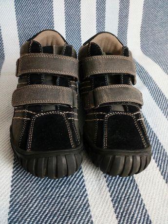 Buty, półbuty, trzewiki GEOX, szaro-czarne, rozmiar 30 (18cm)